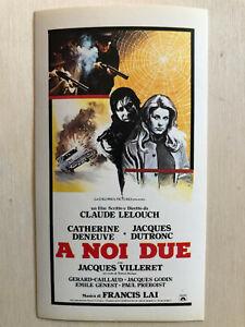 Film-fanartikel Poster Plakat Aufkleber Sticker 1979 Catherine Deneuve A Noi Due Allein Zu Zweit Starker Widerstand Gegen Hitze Und Starkes Tragen