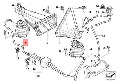 Genuine BMW Engine Mount Right E60 E61 E63 E64 525d 530d 535d 22116774620 |  eBay | Bmw E60 Engine Diagram |  | eBay