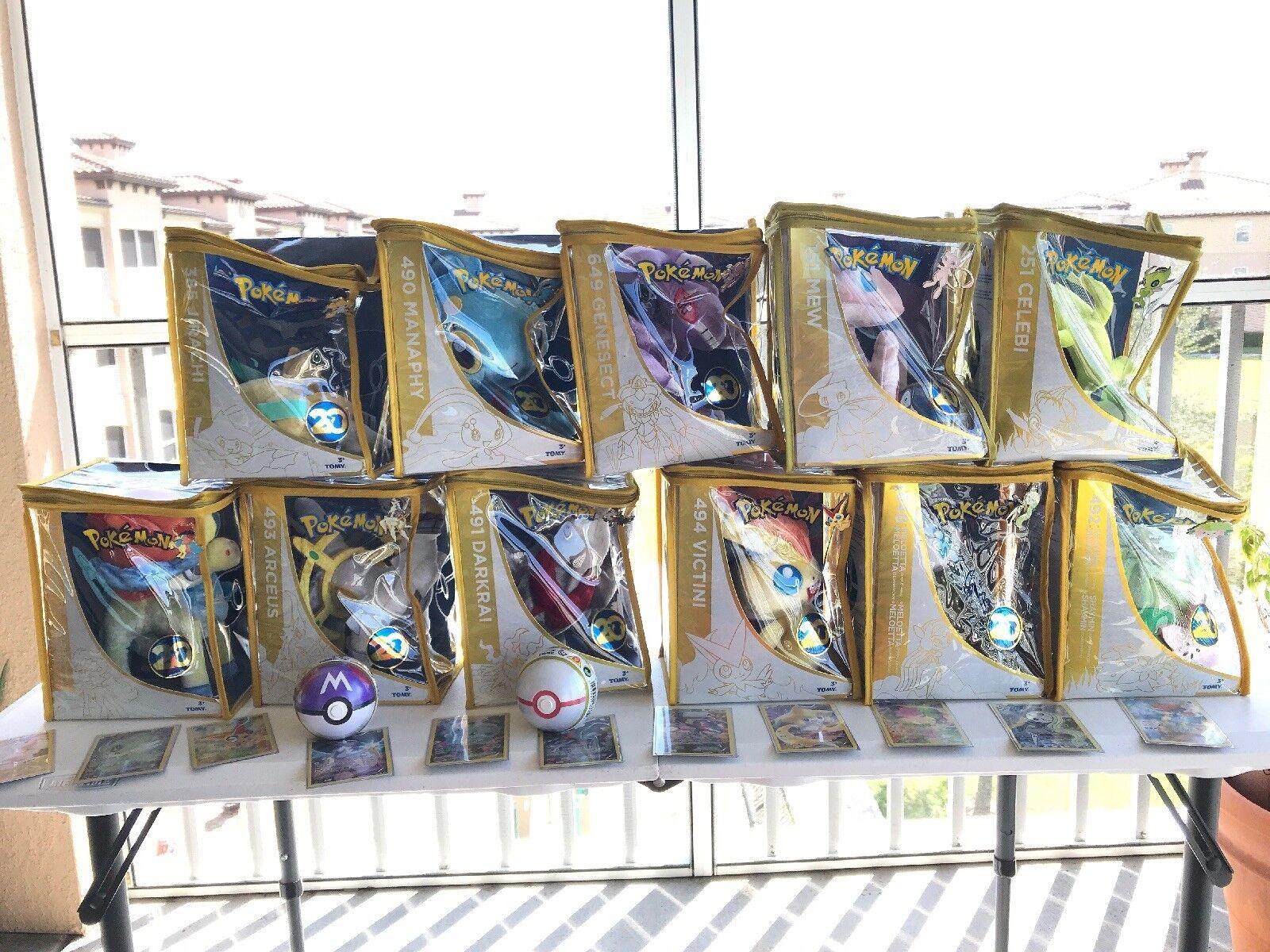 Pokemon Tomy 20th aniversario mítico la legendaria colección de felpa, Completo  más