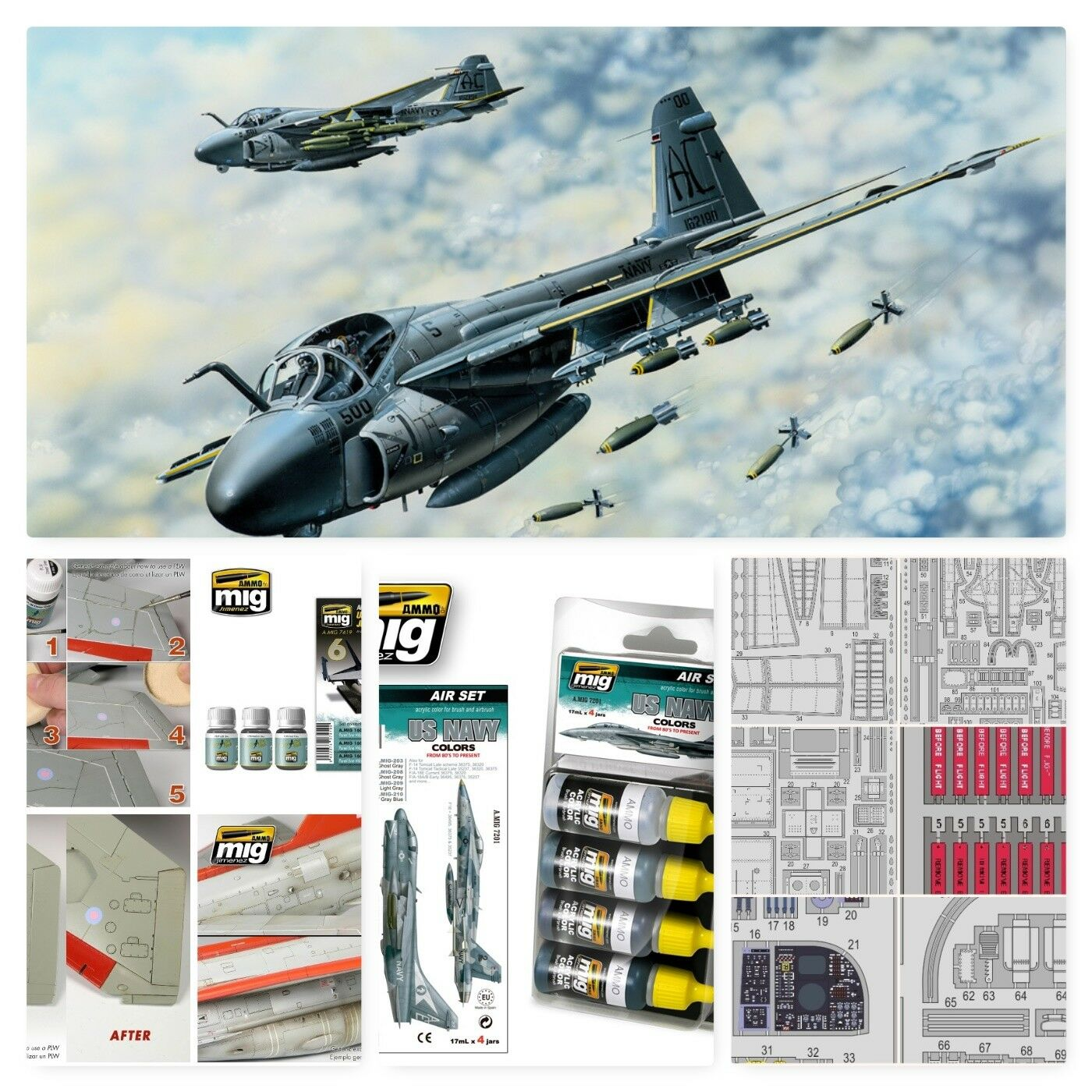 A-6E tranvía intruso 1 48 Hobby Boss (Combo-pack)