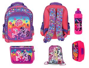 MY LITTLE PONY Backpack School Bag Pencil Case Lunch Box /& HASBRO Gym Bag