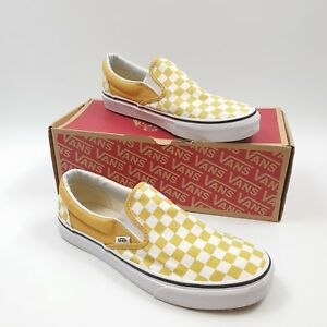 Slip Size On Yellow Uk White Platform 43 Eu 9 Checkerboard Trainers Vans Classic 8U5qwtxfEA