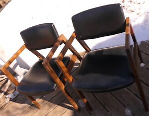 debd34ae99bd Image is loading TWO-INDUSTRIAL-CHAIRS-MID-CENTURY-MODERN-UNITED-CHAIR-
