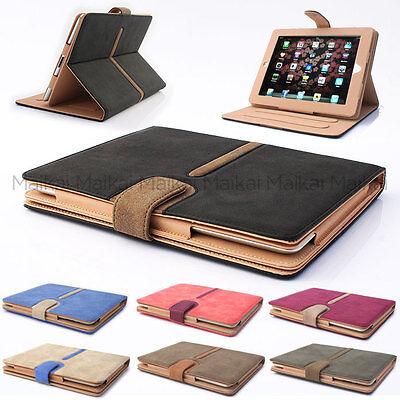 MaikaI Suede Leather Smart Case Cover for iPad Air 2 - Cream