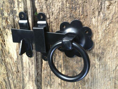 rustique fermeture pour porte ou porte Torriegel-torverschluss avec-ring