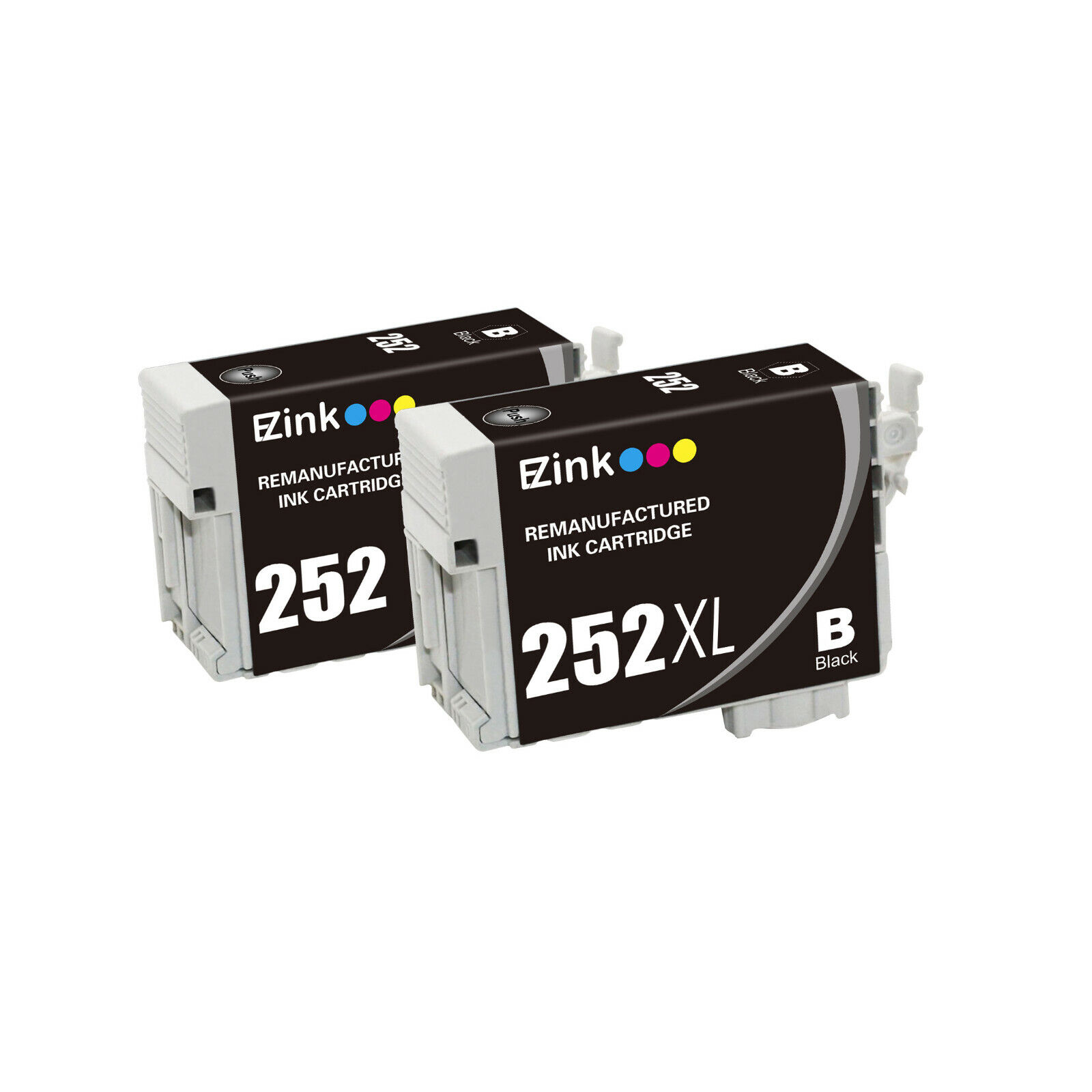 4 Pack for 252 XL 252XL BCMY Ink Cartridges fit Epson WorkForce WF-7720 WF-7620