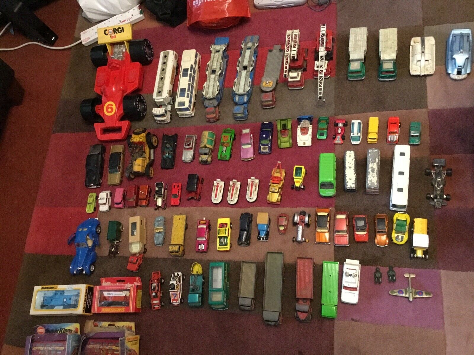 Joblot Of 78 x Mega Rare Dinky, Corgi And Other Other Vintage Toy Vehicles - Wow