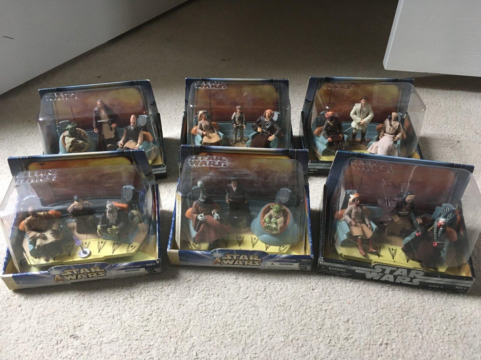 Star Wars Jedi High Council Scene 1, 2, 3, & 4 and Scene 1 & 2 Complete Sets