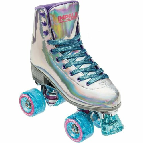 NEW Women/'s Impala Vegan Quad Roller Skates Holographic SZ 10 /& 11 SHIPS QUICK
