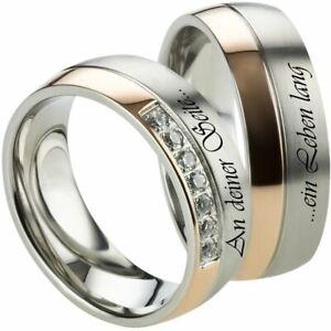 Eheringe Verlobungsringe Trauringe Ringe aus Edelstahl mit Lasergravur H131