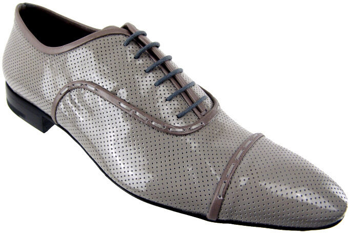 CESARE PACIOTTI PERFORATED LEATHER OXFORDS OXFORDS OXFORDS US 10 ITALIAN DESIGNER MENS schuhe b46456