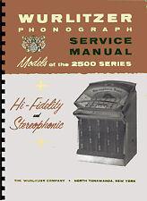 MANUALE COMPLETO (manual) JUKEBOX WURLITZER 2500-2504-2510 (juke box) (1961)