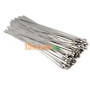 100pcs 3x100mm Network Nylon Plastic Cable Wire Organiser Zip Tie Cord StrapPLF
