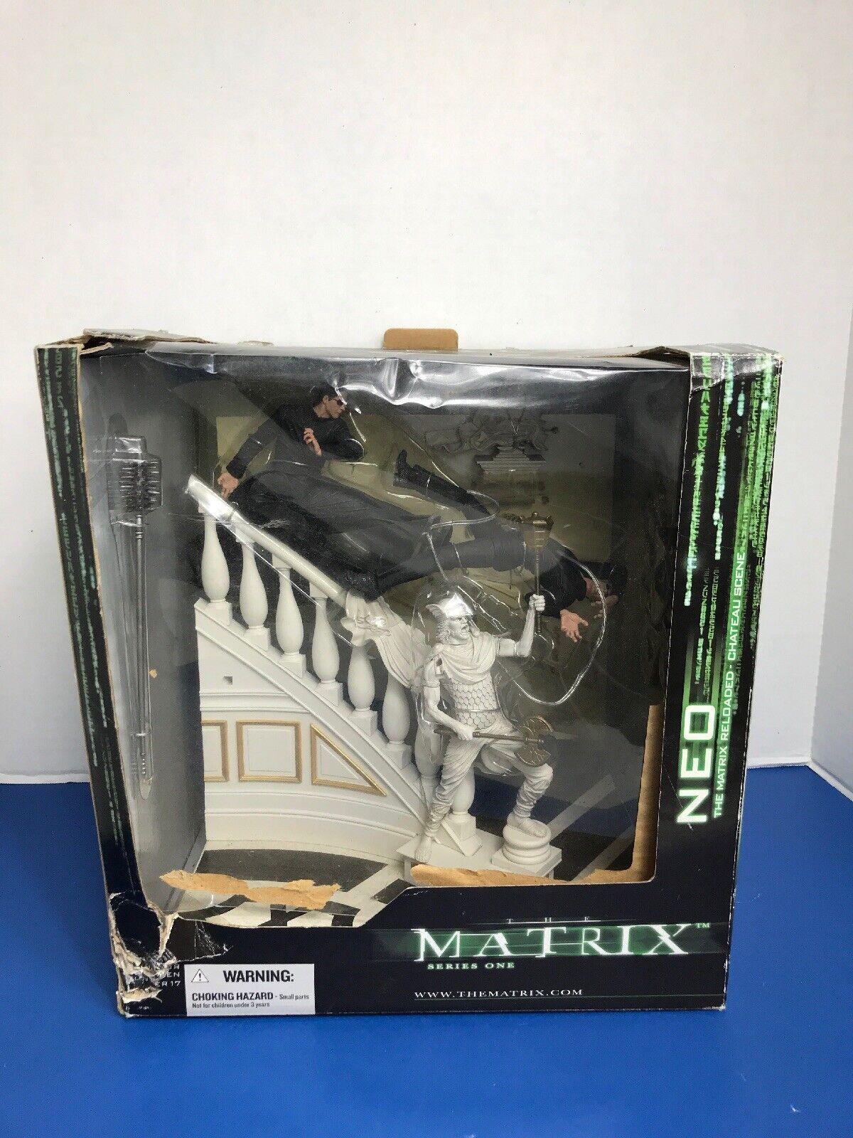 McFarlane giocattoli Matrix Series 1  Deluxe scatolaed set Neo Chateau Scene azione cifra  edizione limitata