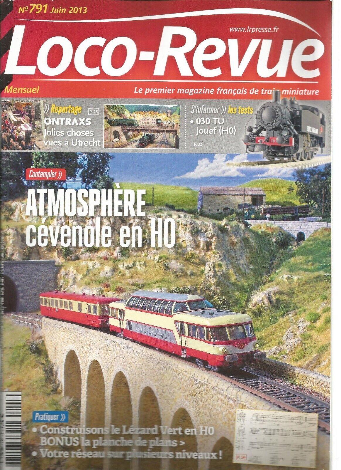 LOCO REVUE N°791 CONS. LEZARD green EN HO   RESEAU SUR PLRS NIVEAUX   CEVENOLE