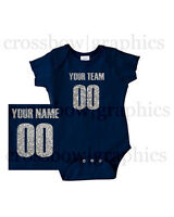 Custom Infant Creeper Bodysuit Jersey Personalized Glitter One-piece Baby Cute