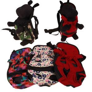 Haustier-Hunde-Trage-Rucksack-Rote-Farbe-Reise-Breathable-Schulter-Tasche-Welpen