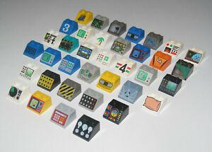 Lego-Brique-Penchee-2x2-Serigraphie-Slope-brick-Choose-Pattern-3039
