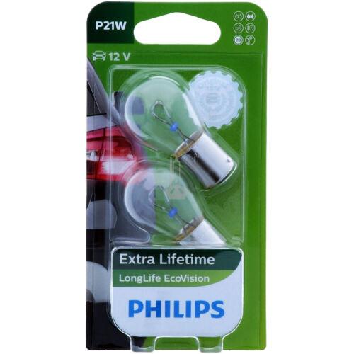P21w Philips Longlife ecovision 12498 llecob 2 faros lámpara-duo-pack nuevo
