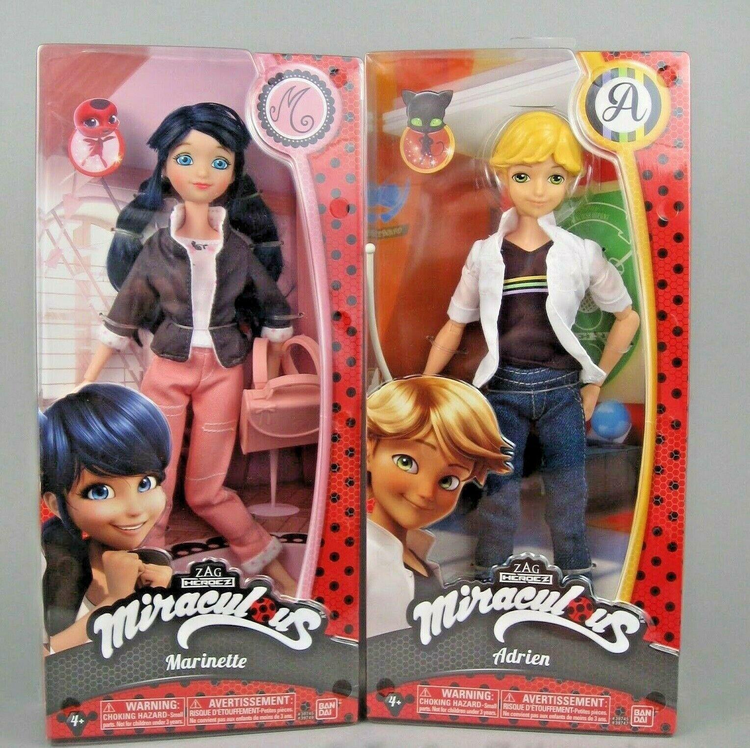 Exclusivo nuevas milagroso Ladybug Mmarinette & Adrien muñecas de moda 10.5