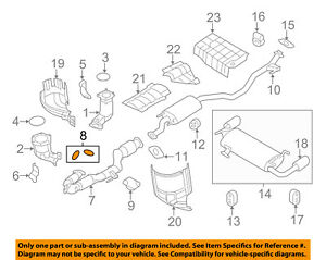image is loading nissan-oem-exhaust-front-pipe-gasket-2069151e01