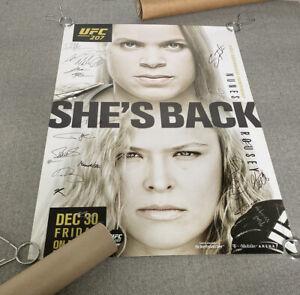UFC 207 AUTOGRAPHED EVENT POSTER, AMANDA NUNES x RONDA ROUSEY