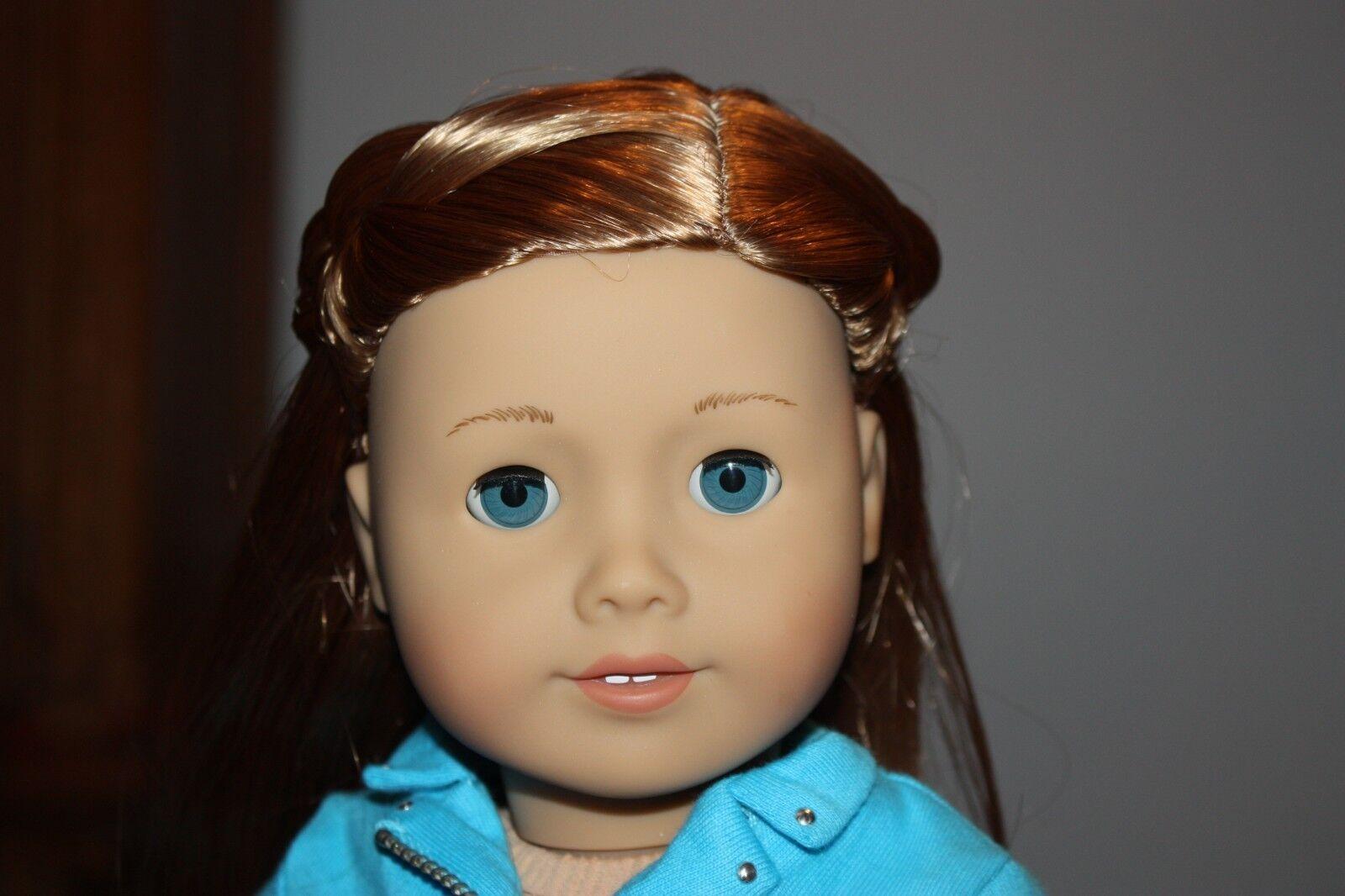 Nuevo American Girl realmente me 18  Muñeca LT Piel Ojos Azules Pelo Estilo Caramelo