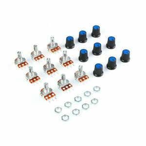 9-PCS-1pcx9-Value-Linear-Potentiometer-15mm-Shaft-With-Nuts-And-PotentiomL8Y4