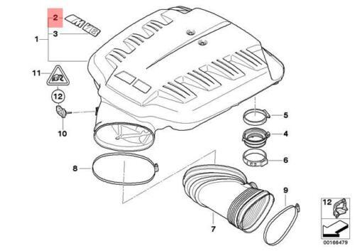 Genuine BMW E90 E92 E93 Engine Cover M Emblem Badge OEM 11617837738