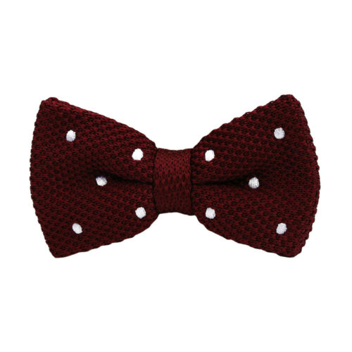 Details about  /Men's Knitted Polka Dots Bowtie Wedding Party Adjustable Formal Bow Ties