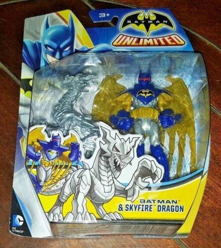 NIP! DC Comics Batman Unlimited: BATMAN & SKYFIRE DRAGON Action Figure!