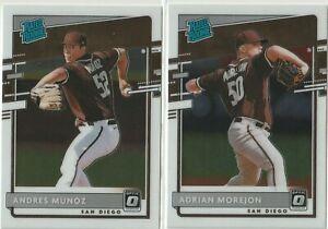 2020 DONRUSS OPTIC RATED ROOKIE Adrian Morejon Andres Munoz San Diego Padres