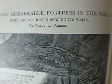 Climbing Sigiri Lion Rock Fortress Dambutta Ceylon Antique Photo Article 1898