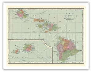 photograph regarding Printable Map of Hawaiian Islands named Data in excess of 1905 Classic Map of Hawaii - Hawaiian Islands - C.S. Hammond - Fantastic Artwork Print