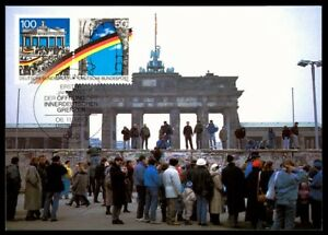 BUND-MK-1990-BERLINER-MAURER-WALL-BRANDENBURGER-TOR-MAXIMUMKARTE-MC-CM-m762