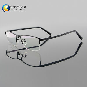 09fe04cc3a22 Titanium Alloy Men's Half Rimless Eyeglass Frames Optical Eyewear RX ...