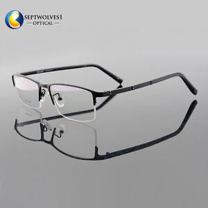 8d2661b2dc7 Titanium Alloy Men s Half Rimless Eyeglass Frames Optical Eyewear RX ...