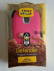 Unused-OtterBox-Defender-Series-Samsung-Galaxy-S4-with-Holster-PINK-WHITE