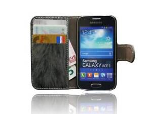 Samsung-Galaxy-Ace-3-S7275-Tasche-Hulle-Cover-Bag-Case-Etui-ANTHRAZIT-Folie