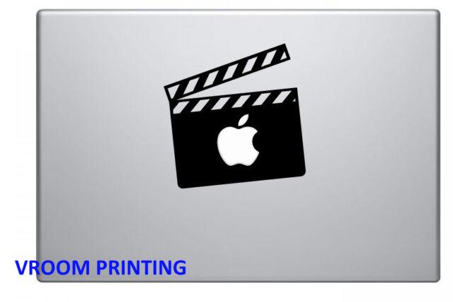 Movie clapper board vinyl decal sticker for apple macbook pro air mac