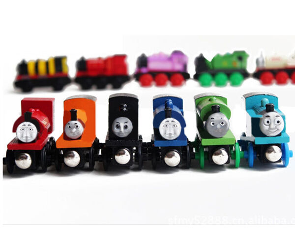GEE Gift Magnet Thomas Friends Tank Engine Wood Train For Children Learning Toy