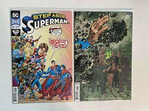 Superman-lot-of-2-Comics-15a-amp-15b-Hughes-variant-Bendis-DC-2019