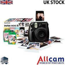 Fuji Instax Mini 8 Instant Photo Camera Black + Film (40 prints) Retail Pack,New