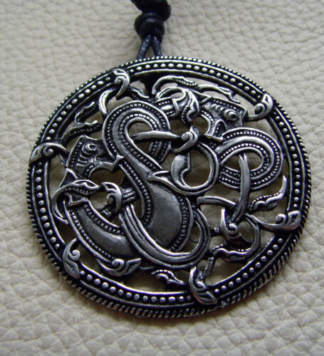 Wikingeranhänger Jellingstil Zinn angeregt vom Runenstein von Jelling//Dänemark