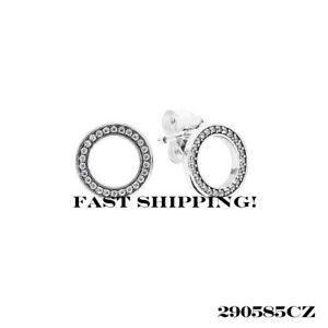 8e9f278d0 Image is loading Authentic-Pandora-sterling-silver-Forever-Pandora-CZ-Stud-