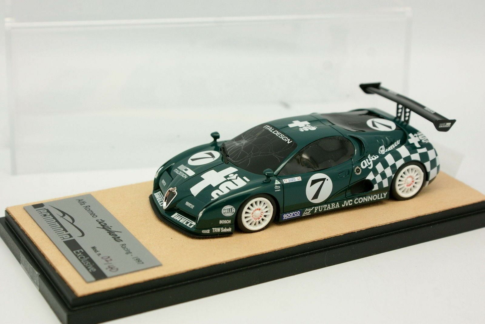 Tecnomodel 1/43 - Alfa Romeo Scighera Corsa Press Version 1997 Verde