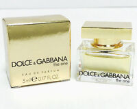 The One By Dolce & Gabbana Mini Women Perfume 0.17 Oz 5 Ml Splash Edp In Box