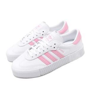 Details about adidas Originals Sambarose W White Pink Women Casual Platform  Shoes FU7456