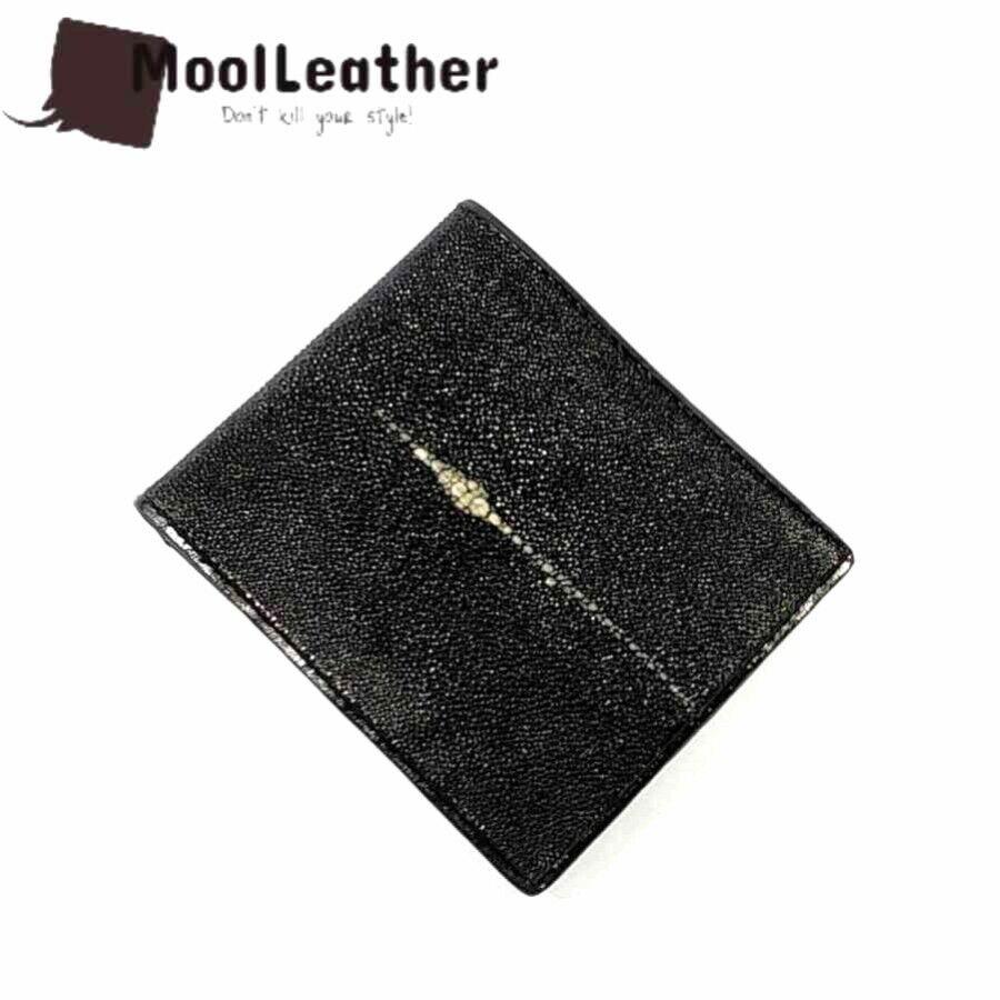 Men Wallet Stingray Leather genuine stingray skin Black Samurai Free Shipping
