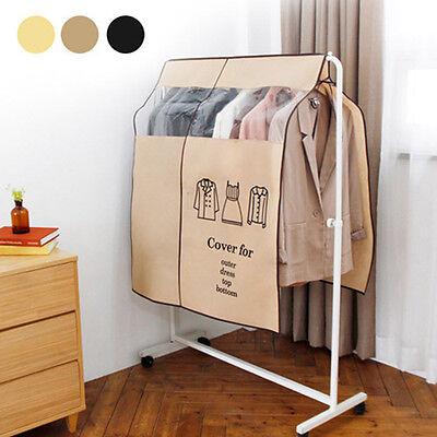 Wardrobe Hanging Suit Clothing Overcoat Dust Cover Garment Storage Bag Organizer